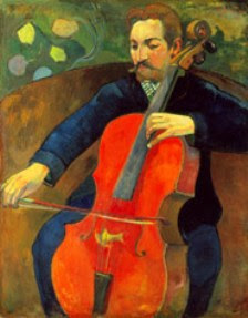 Image result for Gauguin painting man with cello bma