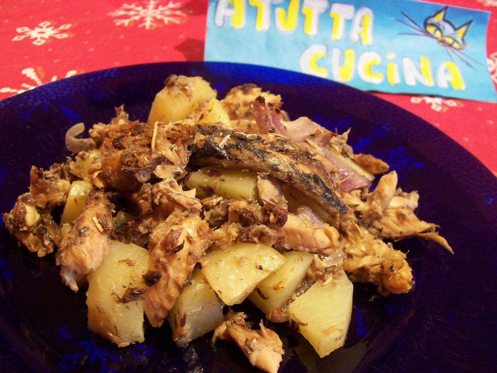 A tutta cucina sgombro al forno con patate for Cucinare sgombro