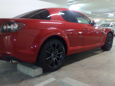 brunei sport car 2008 facelift velocity red mazda rx 8. Black Bedroom Furniture Sets. Home Design Ideas