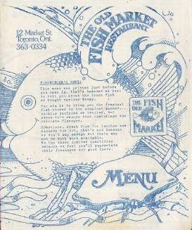 Chuckman 39 s other collection toronto postcards volume 02 for Chucks fish menu