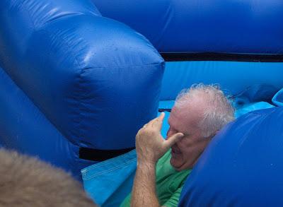 Pastor in water slide funny