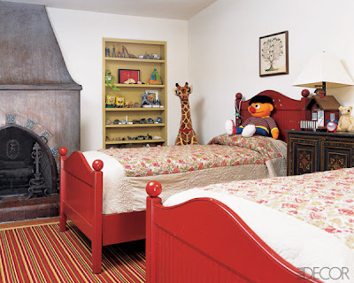 Red Boys Room Elle Decor Jpg