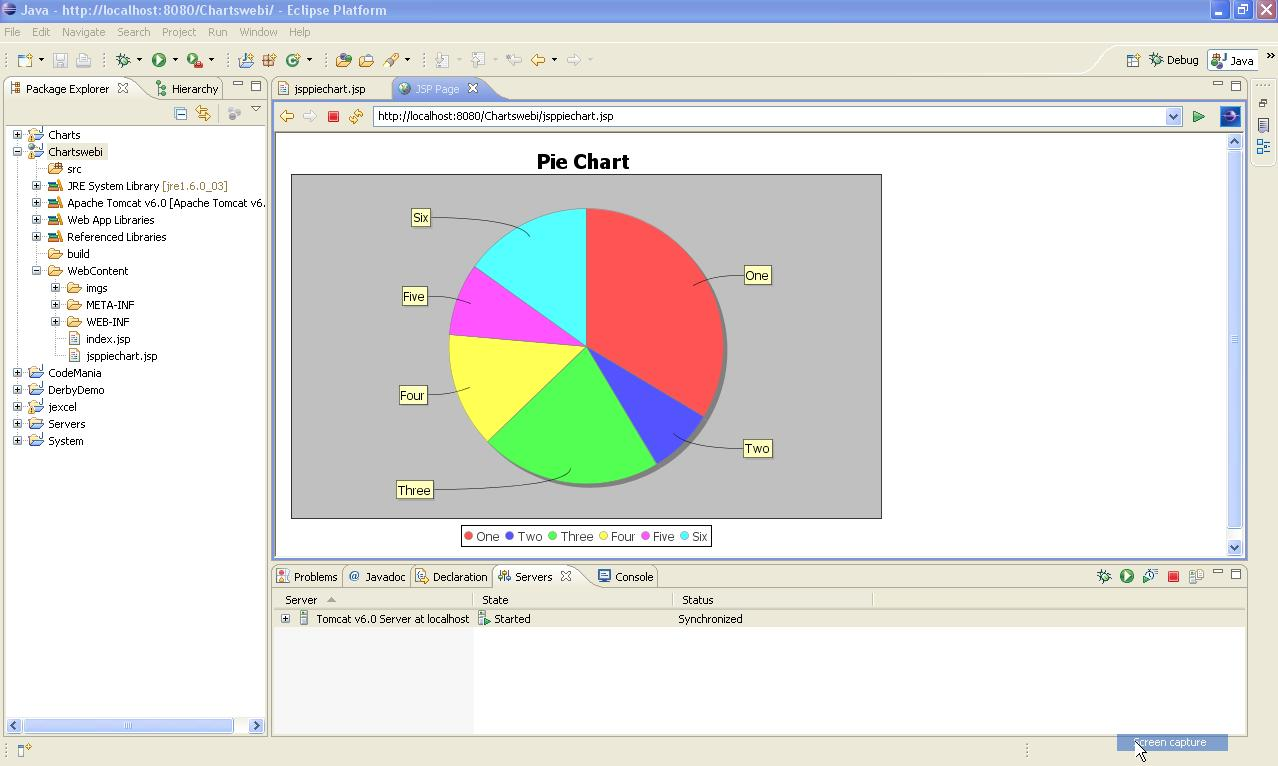 Core javaj2eespringhibernatejax rsejbjpasoaiidmqrmi i have just used jfreechart and developed pie chart displayed on jsp webpage deployed on tomcat if you need any assistancecode for this then tweet me nvjuhfo Image collections