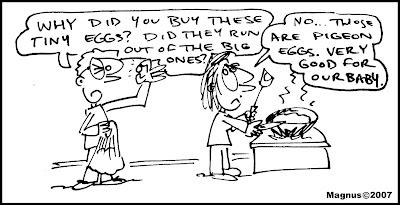pregnant+FOOD+pigeon+eggs THE SAGA makes a DETOUR, lets Talk about FOOD.