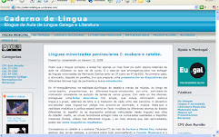 Caderno de lingua de Román Landín