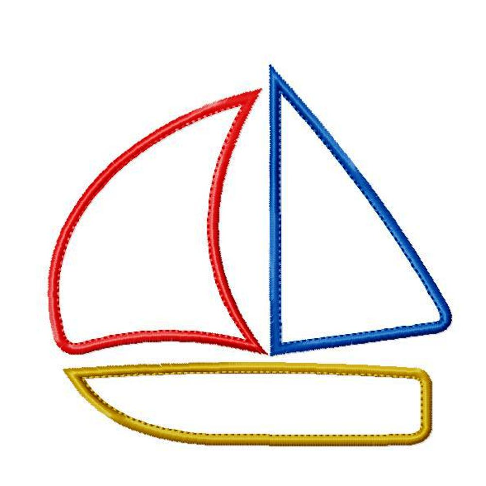big dreams embroidery simple sail boat machine embroidery applique