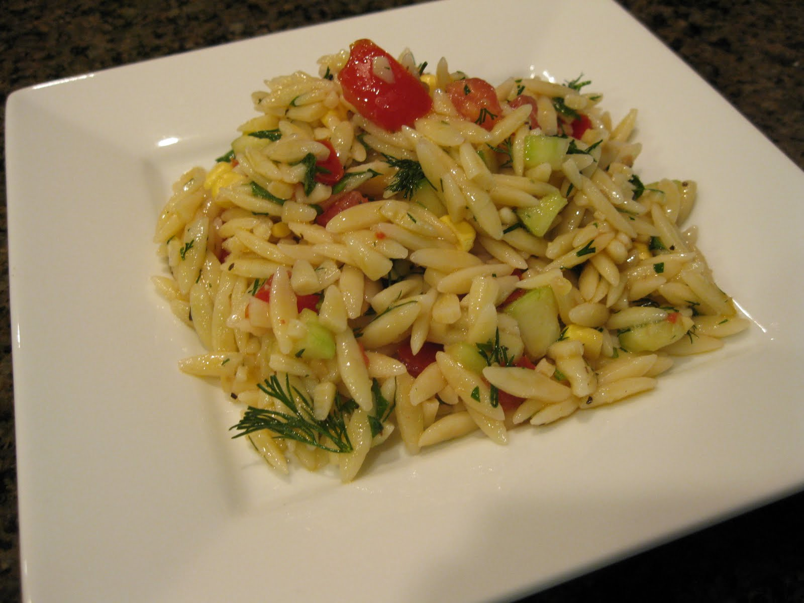 The Written Kitchen Cold Orzo Salad