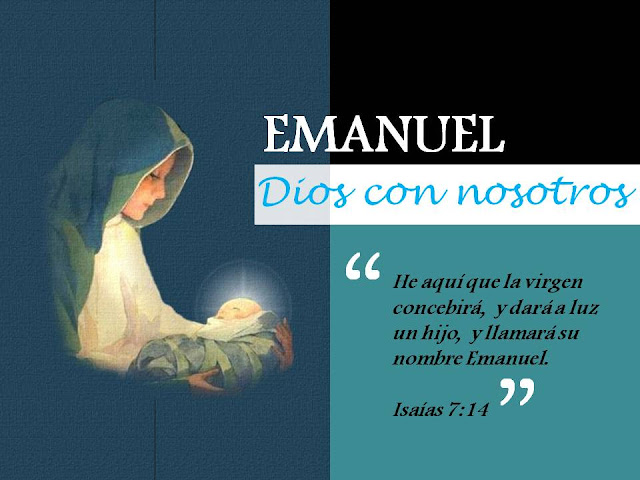 La Virgen está encinta y da a luz un Hijo»