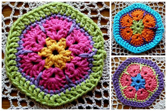 Lindevrouwsweb African Flower Hexagon