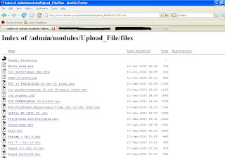 hasil google hacking saya tahun 2008