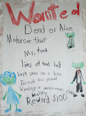wind in the willows wanted posters