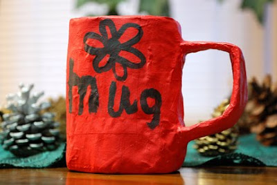 paper mache coffee mug pencil holder
