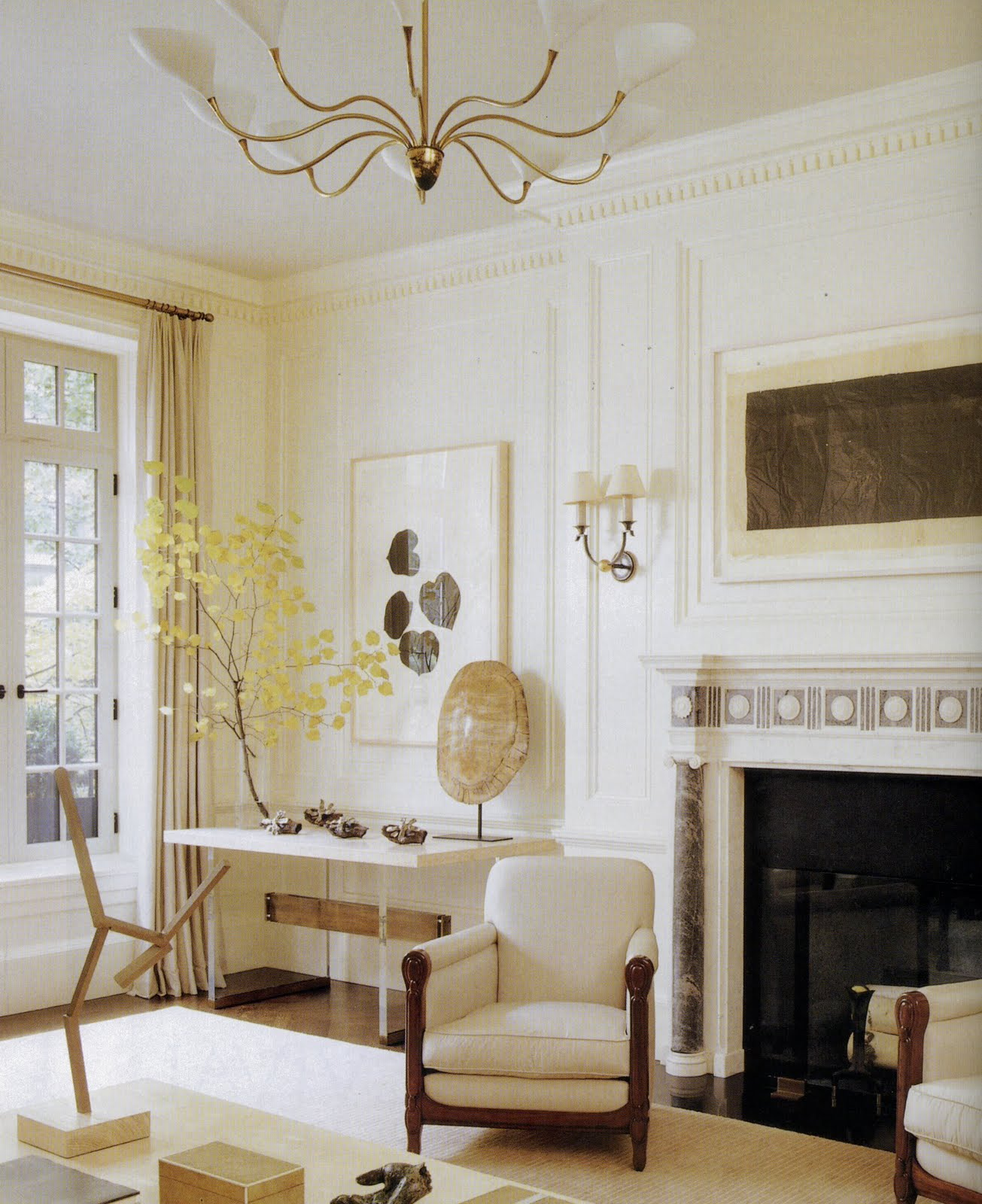 Elle Design: AESTHETICALLY THINKING: THE PANELED ROOM