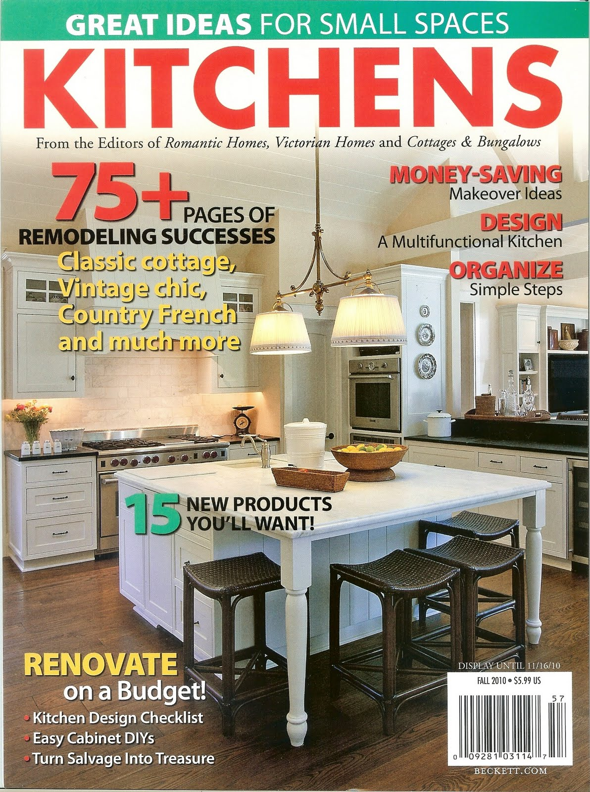 "Timeless Kitchen Cabinetry: ""Kitchens"" Magazine"