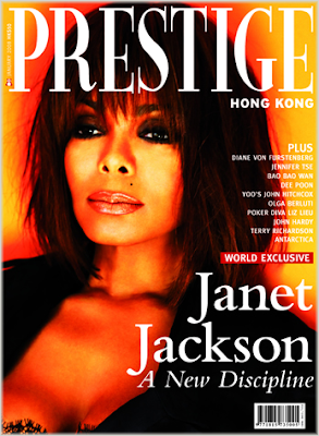 Janet Jackson on the cover of Prestige Hong Kong Magazine