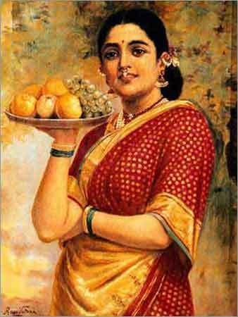 .: Indian traditional women in paintings