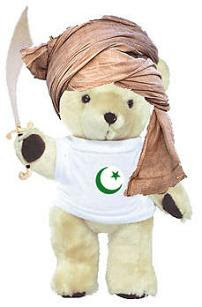 Mohammed Bear - Mohammed Bear fools all the other Bears (except Dhimmi Bear who is forced) into believing he is Holy. His followers go on to continually divide and harass the world while claiming to be victims. What a tricksey Bear he is!