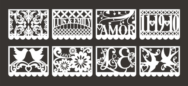 Images Of Papel Picado Wedding Template