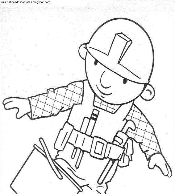 Fábrica dos Convites: Desenhos para Colorir do Bob o