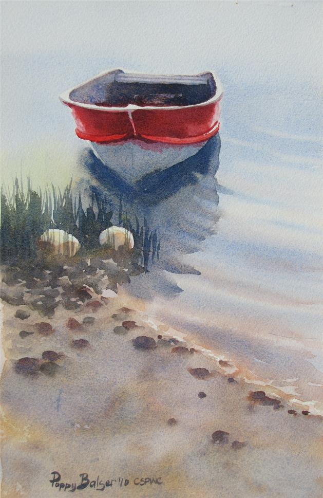 Paintings By Poppy Red Rowboat Sketches Ii