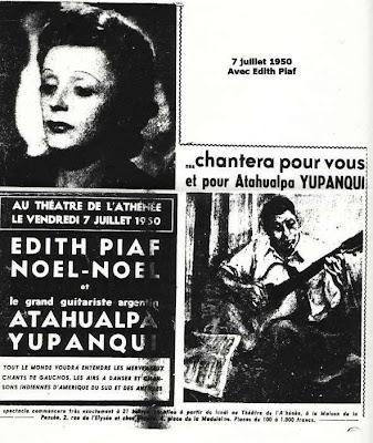 Edith Piaf y Atahualpa Yupanqui