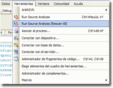 Microsoft Source Analysis integrado en VS2005