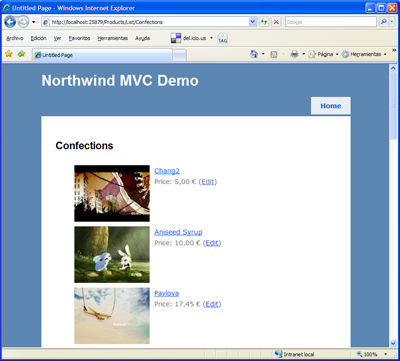 Northwind demo para MVC CTP 3