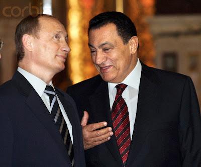 Mubarak and Putin in 2005 at Abdin Palace