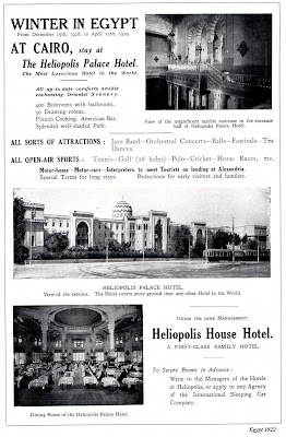 Heliopolis Palace Ad in 1922