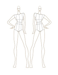 template croquis templates figure sketches sketch drawing female body figures croqui italian designer drawings designs poses illustrations draw handmade diy