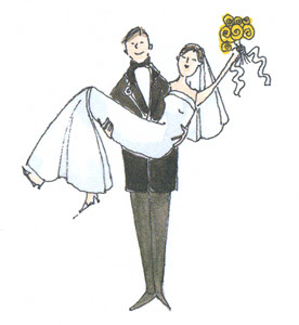 يكتــظ العـديـد مـن الركـاب حـول WeddingCartoon1.jpg