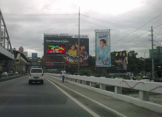 EDSA Guadalupe Area Billboard of Coke and Unilab