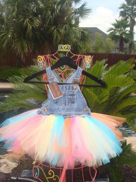 379d950cca Posh Baby Couture  Denim Overall Tutu Dress