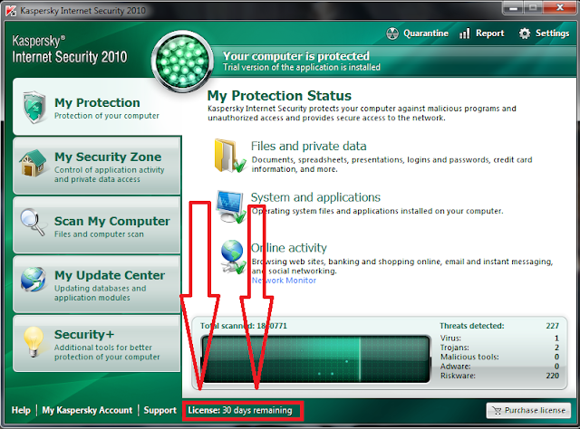 Extend Kaspersky 30 Day Trial Without Any Software