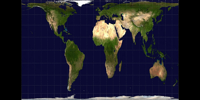 Mapamundi en proyección Gall-Peters