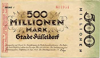 hiperinflacion alemana, billete