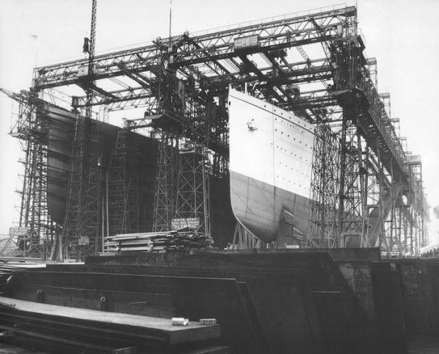 Construcción del Titanic y Olympic