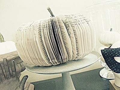 Twig Fall Craft Ideas Altered Book Pumpkin