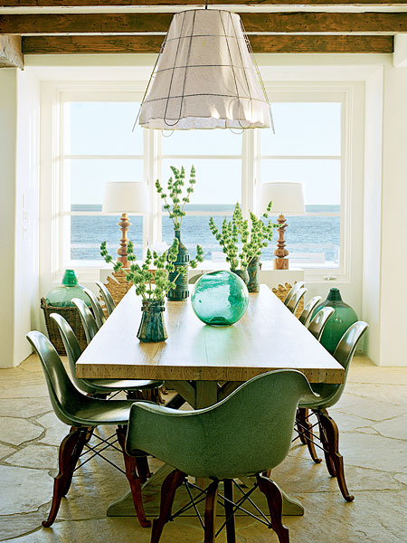 Storm In A Teacup Kelly Green Dining Room Inspiration