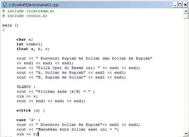 Contoh Database C Visual Basic Java Conversion