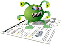 virus on a website