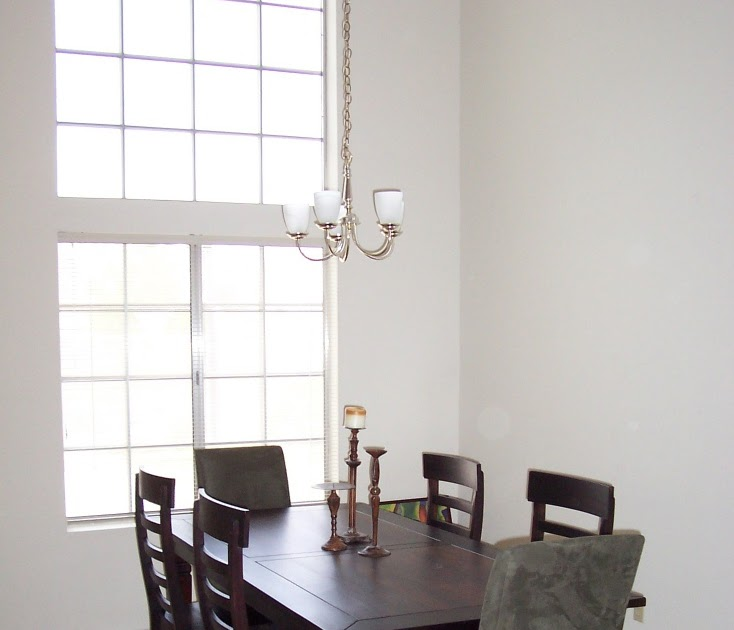 Eclectic Designs By Erin: Add Chair Rail To Break Up Tall