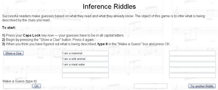 technology rocks  seriously : Inference Riddle Game