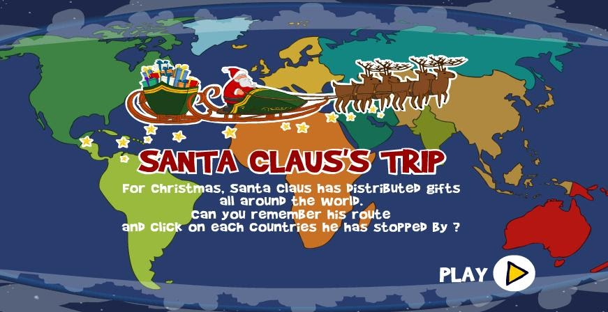 technology rocks. seriously.: Santa Claus's Trip on oolitic map, oats map, tell city map, gulf of antalya on a map, headless horseman map, splashin safari map, santa and his reindeer, north pole map, track santa map, christmas map,