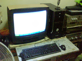 PC with old CRT monitor