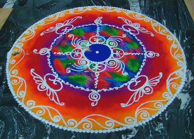 Deepavali Rangoli Designs Flower Patterns Festival Rangoli
