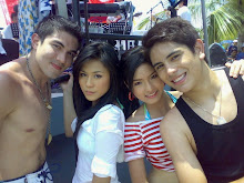 Kim and Gerald with Luis Manzano and Toni Gonzaga