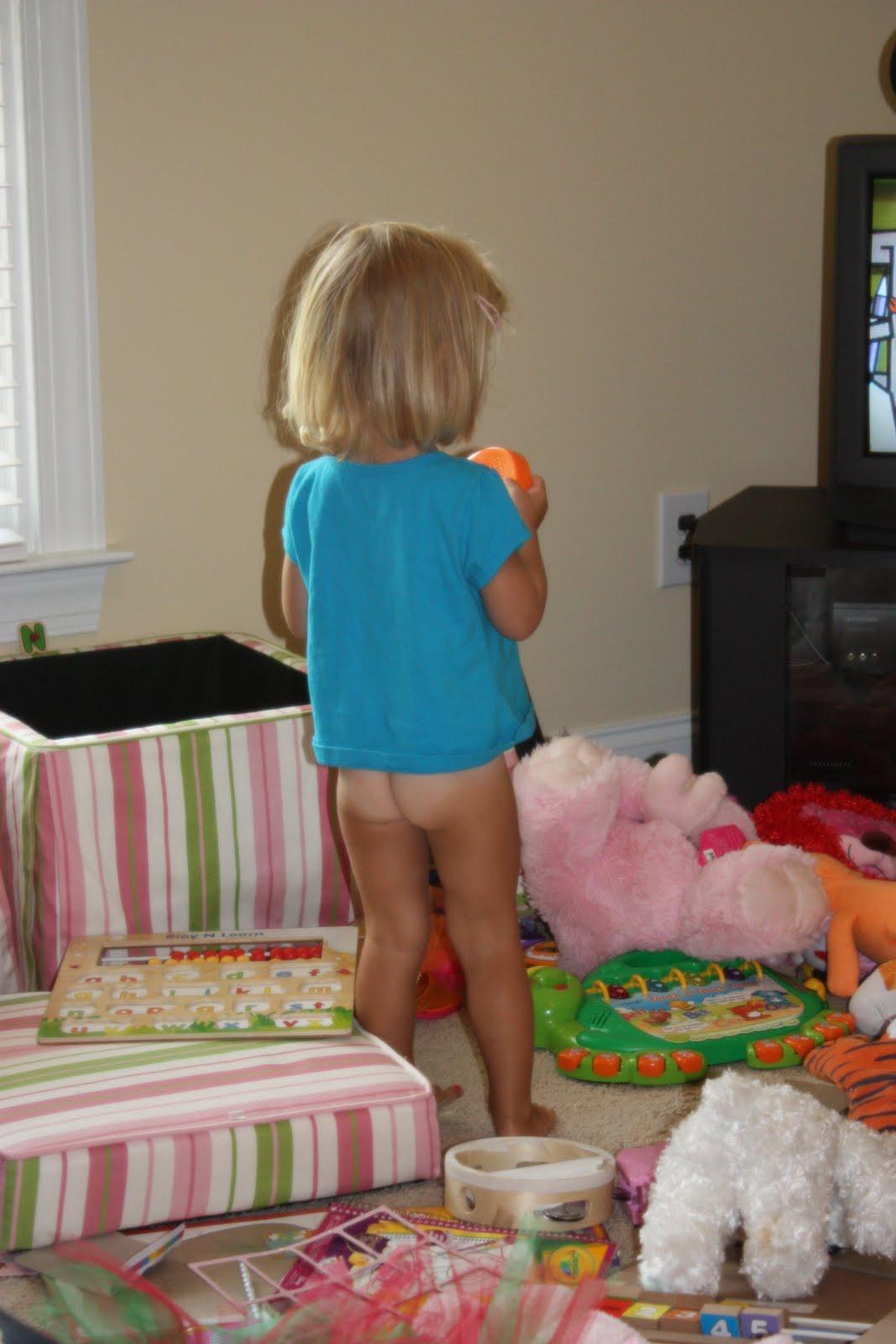 little girl in pull ups