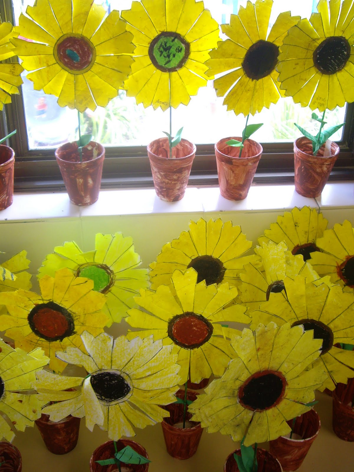 Use Your Coloured Pencils Potted Sunflowers