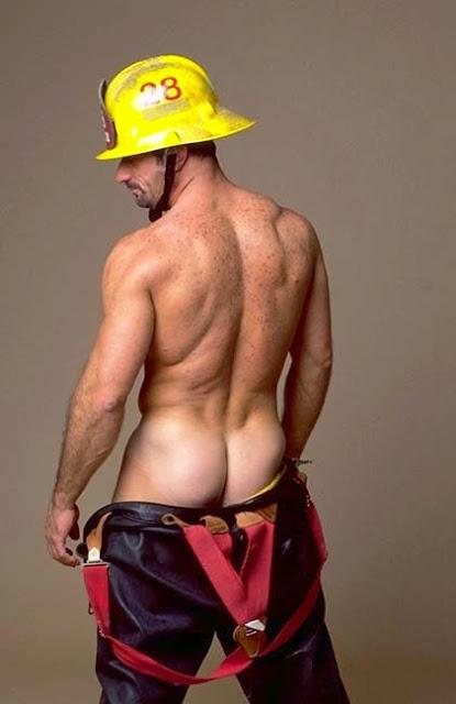 Horny fireman naked — img 15